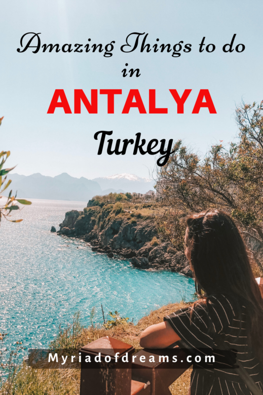 Find out the amazing things to do in Antalya, Turkey. Learn how to explore the beaches including Lara and Konyaalti in one day. Find tips to visit Roman cities like Aspendos and Perge. Immerse in the beauty of the old town and make a memorable trip to Antalya. #antalya #turkey