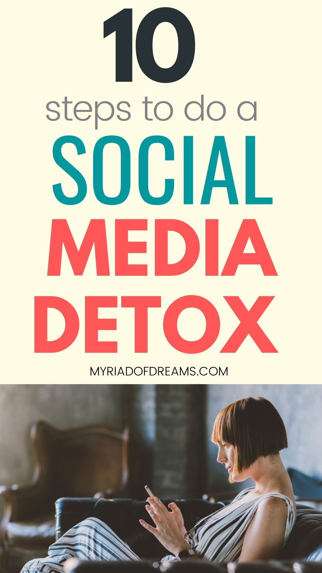 Social media detox tips that will help you reduce your screen time.  A digital detox doesn't necessarily means quitting social media. Learn to take a break from social media and take care of your mental health, digital detox ideas, how to unplug and do a social media cleanse. Live a healthy lifestyle, social media break, personal development, self improvement, personal growth, self care #digitaldetox #socialmedia #detox #personalgrowth #selfimprovement #wellness