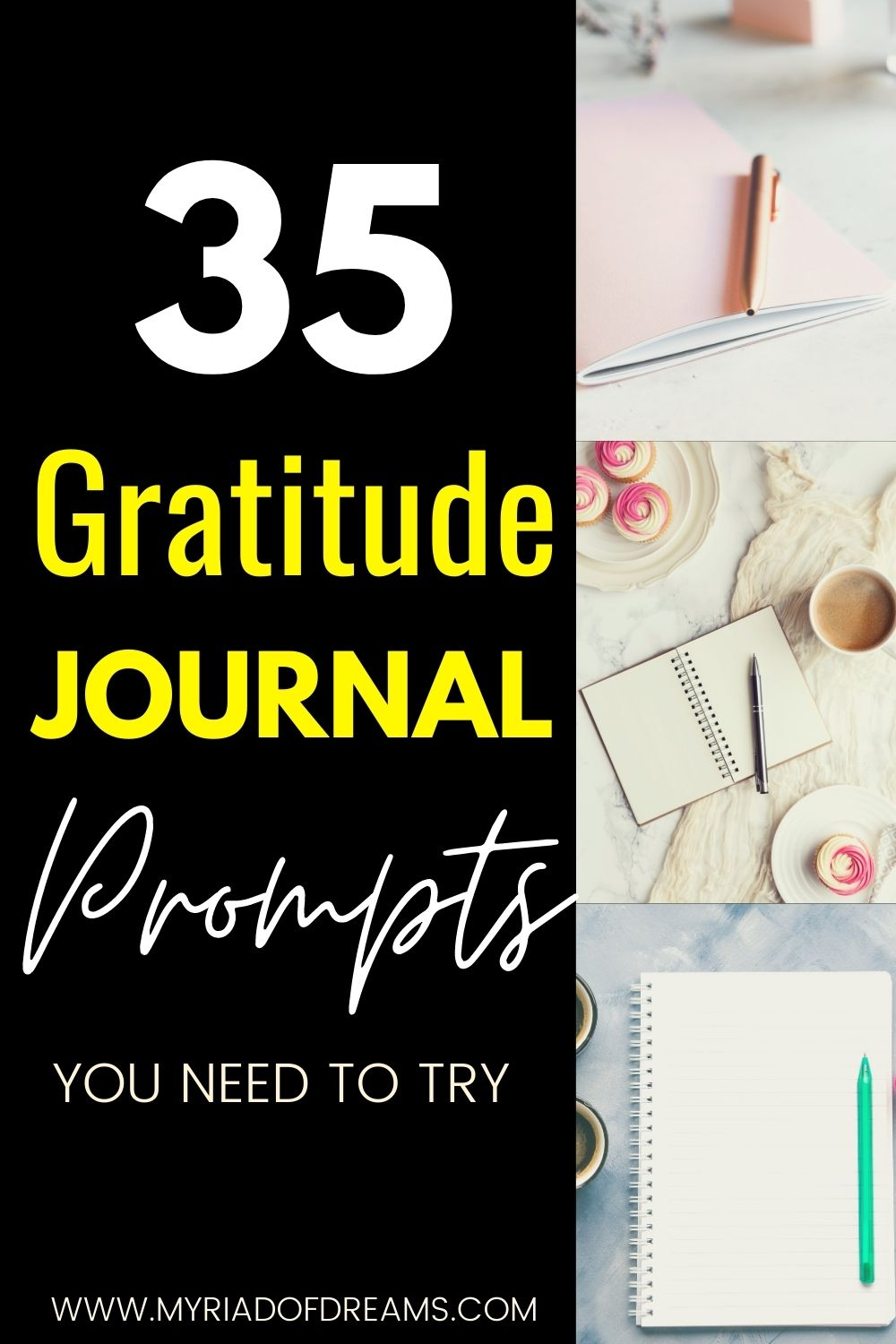 Daily gratitude journal prompts to create more thankfulness in life. Learn the benefits of gratitude journaling and live your best life.